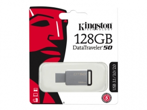 KINGSTON 128GB USB 3.0 DataTraveler 50 - Sort