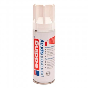 Edding permanent spray 200ml - Hvid, blank