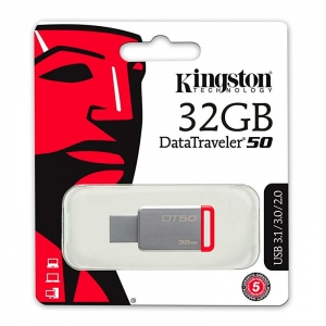 KINGSTON 32GB USB 3.0 DataTraveler 50 - Rød