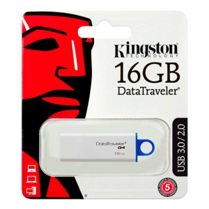 KINGSTON 16GB USB 3.0 DataTraveler G4 - Hvid/Blå