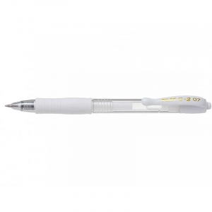 Pilot Gel rollerball m/klik G-2 07 Pastel medium 0,4mm - Hvid