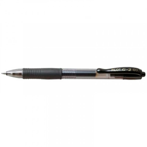 Pilot Gel rollerball m/klik G-2 07 medium 0,4mm - Sort