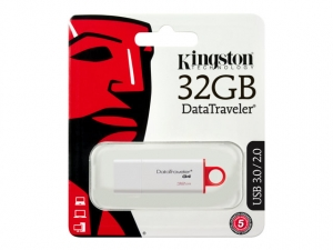 KINGSTON 32GB USB 3.0 DataTraveler G4 - Hvid/Rød