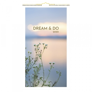 Mayland Vægkalender 2020 Dream & Do 25x45cm