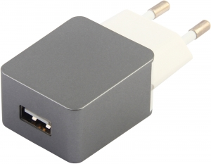 eSTUFF Home Charger 1 USB 1A, Grey