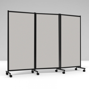 Lintex skærmvæg One Screen 3-delt, 2280x1705mm - sort /lysgrå