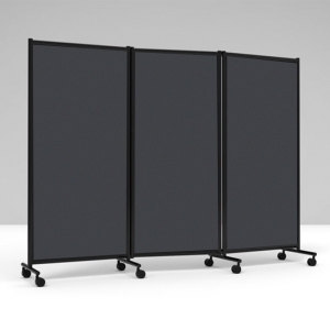 Lintex skærmvæg One Screen 3-delt, 2280x1705mm - sort /grå