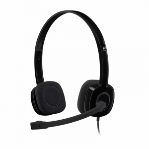 Logitech H151 Stereo Headset, Sort