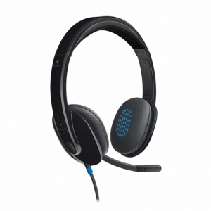 Logitech H540 USB stereo Headset, sort