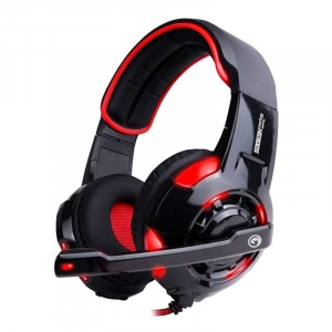 Gaming Headset med Mic.Marvo HG9005 Med USB - Sort/Rød