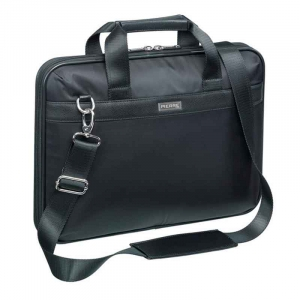"Computertaske Pierre by Elba nylon / nappa 14"" - Sort"