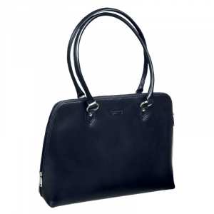 "Computertaske sort Pierre by ELBA Lady 15,6"" - sort læder"