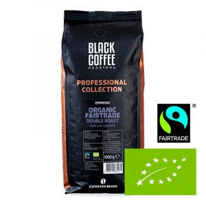 Kaffebønner espresso Black Coffee Roasters Double Roast Organic Øko. Fairtrade - 6x1kg