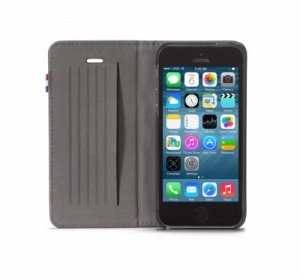 DECODED - LEATHER SURFACE WALLET FOR IPHONE 5/5S/SE BLACK REV 2