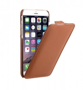 DECODED - LEATHER FLIP CASE FOR IPHONE 6 - BROWN