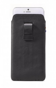 DECODED - LEATHER POUCH WITH STRAP FOR IPHONE 6 BLACK