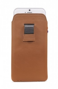 DECODED - LEATHER POUCH WITH STRAP FOR IPHONE 6 BROWN
