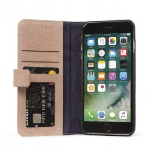 DECODED - LEATHER WALLET CASE MAGNET FOR IPHONE 7 PLUS/6S PLUS/6 PLUS - ROSE