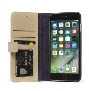 DECODED - LEATHER WALLET CASE MAGNET FOR IPHONE 7 PLUS/6S PLUS/6 PLUS - SAHARA