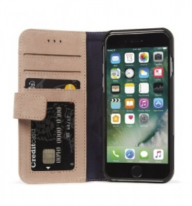 DECODED - LEATHER WALLET CASE MAGNET FOR IPHONE 7/6/6S ROSE