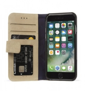 DECODED - LEATHER WALLET CASE MAGNET FOR IPHONE 7/6/6S SAHARA