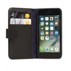 DECODED - LEATHER WALLET CASE FOR IPHONE 5/5S/SE BLACK