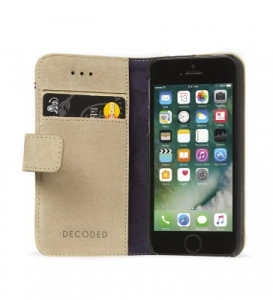 DECODED - LEATHER WALLET CASE FOR IPHONE 5/5S/SE SAHARA