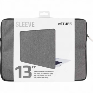 "eSTUFF Sleeve 13"" - Fits Macbook Pro - Grå/turkis"
