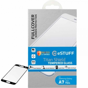 Skærmbeskyttelse Titan Shield t/ Samsung Galaxy A7 (2017) Full Black