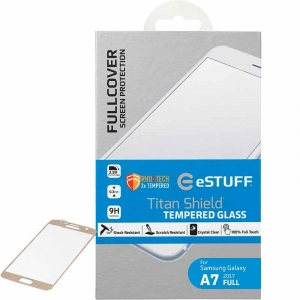 Skærmbeskyttelse Titan Shield t/ Samsung Galaxy A7 (2017) Full Gold