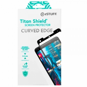 eSTUFF Titan Shield skærmbeskyttelse t/ Google Pixel 2 XL Curved Black