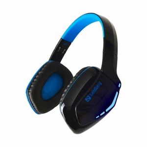 Sandberg Blue Storm Trådløs bluetooth Headset Over-Ear, Sort/blå