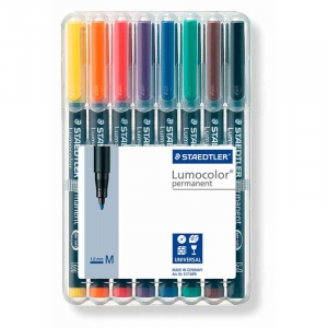 Staedtler Lumocolor permanent pen 317 (M) 1,0mm - 8stk/pk