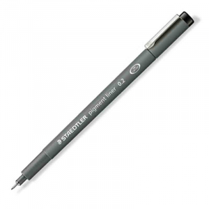 Fineliner Staedtler Pigment liner 308, 0,2mm - Sort