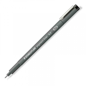 Fineliner Staedtler Pigment liner 308, 0,3mm - Sort