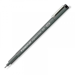 Fineliner Staedtler Pigment liner 308, 0,4mm - Sort