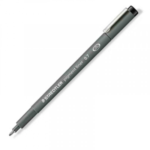 Fineliner Staedtler Pigment liner 308, 0,7mm - Sort
