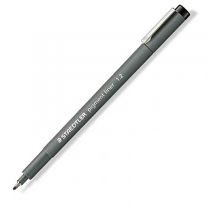 Fineliner Staedtler Pigment liner 308, 1,2mm - Sort