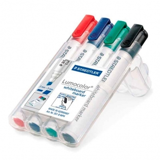 Staedtler Lumocolor whiteboard marker 351 B, 2-5mm - 4stk